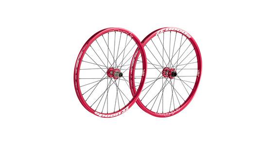 Spank Spoon32 EVO hjul Hjulsæt, 20mm + 12/150mm rød
